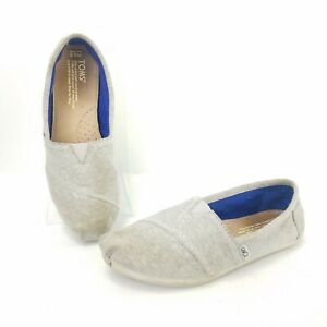 Toms-Slip-On-Wrap-Style-Canvas-Solid-Gray-Flats-Comfort-Shoes-Womens-Size-6-5