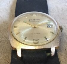 Pre-owned Vintage GLASHUTTE SPEZIMATIC 2G RUBIS Gold Plated Watch WORKING German