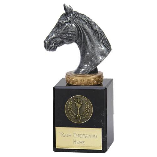 Horse Pony Head Trophy Award Prize 15cm  Marble Base  FREE ENGRAVING