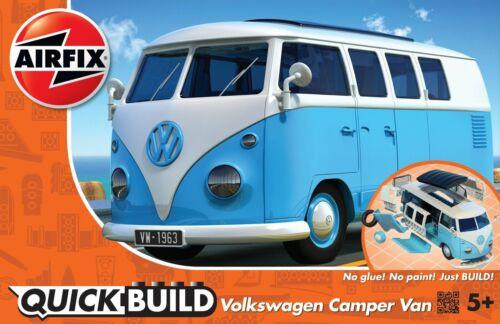 Airfix J6024 Quickbuild Volkswagen VW Camper Van Bus Blau