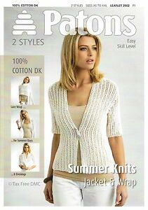 Vat Free Knitting Pattern Only Patons Ladies Summer Knits Jacket