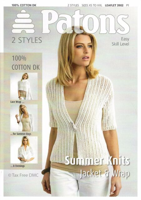 Vat Knitting Pattern Only Patons Ladies Summer Knits Jacket Wrap