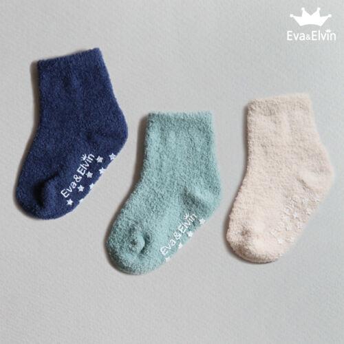 """Korea bébé enfant 1T-7T chaud épais Anti Dérapante 3Set /""""Garçons Moelleux Chaussettes/"""""""