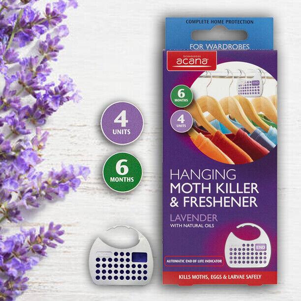 ACANA Appeso Moth assassino e Deodoranti con fragranza alla lavanda uccide le falene