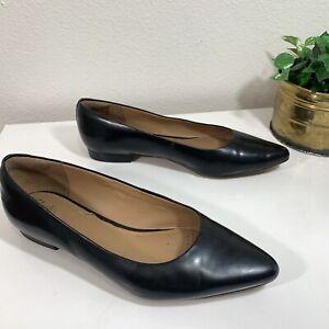 Clark's Artisan Patent Leather Shoe Flats Black Point Toe Womens Size 9.5