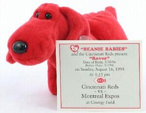 e122473d Details about CINCINNATI REDS SGA TY DOG PLUSH ROVER GAME DAY 08/16/98 1998  BEANIE BABIES MLB