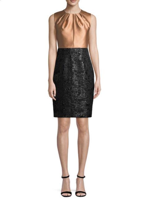 MAX MARA Women/'s Steppa Black Sleeveless Jacquard Sheath Dress $1,250 NWT