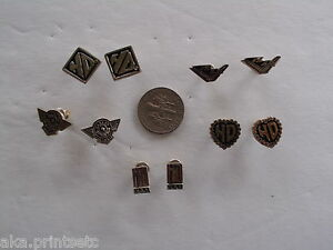 HARLEY DAVIDSON EARRINGS POST SILVER TONED SET OF 5 OFFICAL HD PRODUCT DF-7
