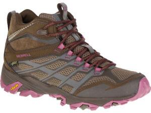 merrell moab mid fst waterproof light trail shoes - mens rac
