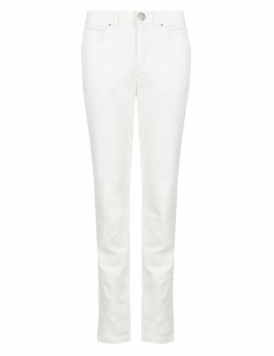 Ex M/&S Colección Jeans Damas Twiggy Pantalones De Pierna Recta 12-24 Mark Spencer