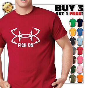FISH-ON-HOOKS-LOGO-T-SHIRT-HQ-print-FISHING-LOVER-SAILING-HOOK-FISHING-T-SHIRT