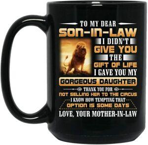 Favorite Son In Law Mug Funny Birthday Ceramic Mug Coffee Cup Gift For Men Women