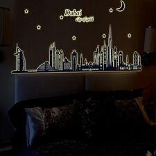 Big Wall Decals Of DUBAI City glow in The dark Self Adhesive Decorative Stickers