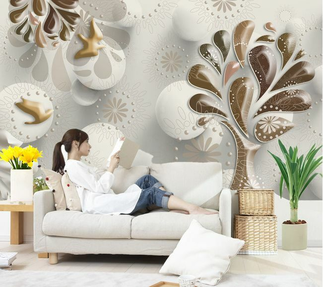 3D Art trees drop 861 WallPaper Murals Wall Print Decal Wall Deco AJ WALLPAPER
