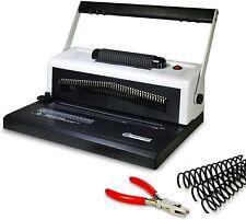 S25a Coil Punch Amp Binding Machine Free Crimper Amp 8mm Plastic Coils Box Of 100pcs