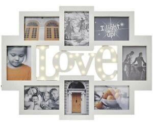 LED-Bilderrahmen-Collage-Weiss-13x18-8er-LED-Bilderrahmen-LED-LOVE-Schriftzug