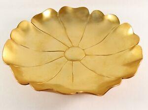 Vintage 1930's Art Deco McClelland Barclay Bronze Lotus Blume Serving Platte