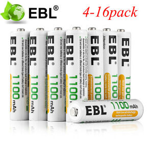 4x-8x-12x-16x-EBL-AAA-Battery-Ni-MH-1100mAh-1-2V-Rechargeable-Batteries-Lots