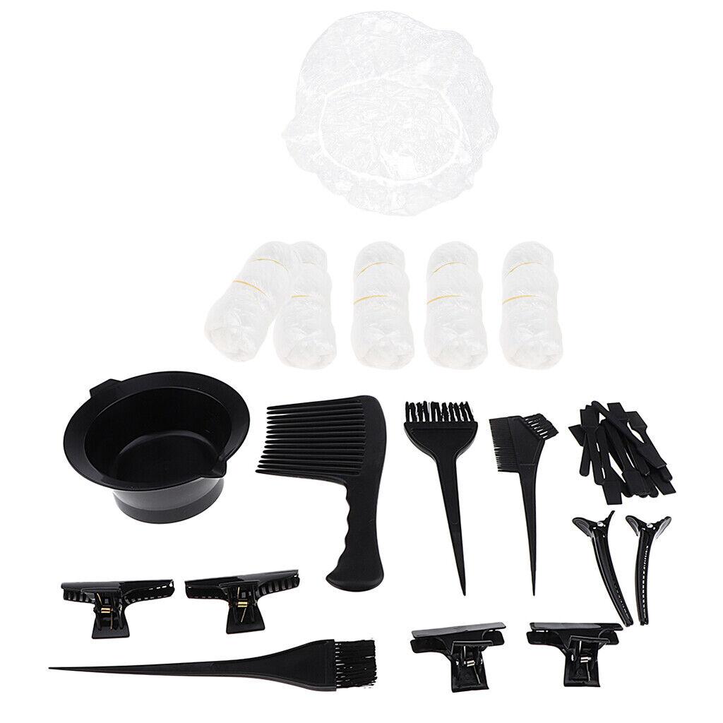 Haarfärbewerkzeuge Set Home Salon Bürstenschale Kamm Haarspange Bleaching Kit