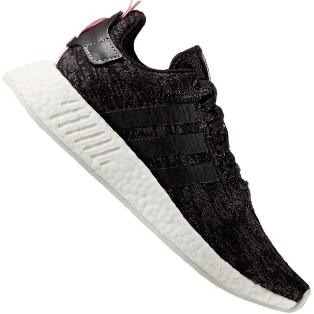 c6decf0a0 adidas Originals NMD R2 W Boost Black Pink Women Running Shoes ...