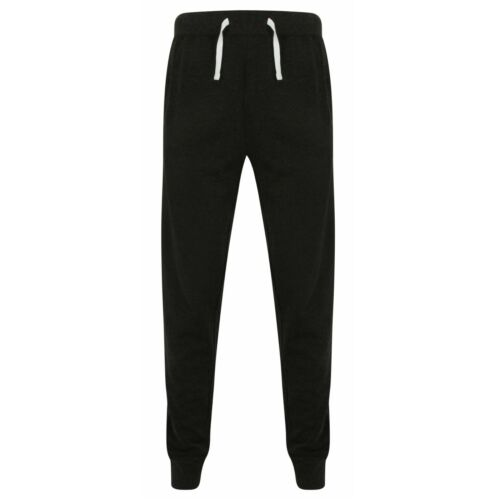 Mens Womens Slim Fit Joggers Jogging Bottoms Trouser Lounge Pant French Terry