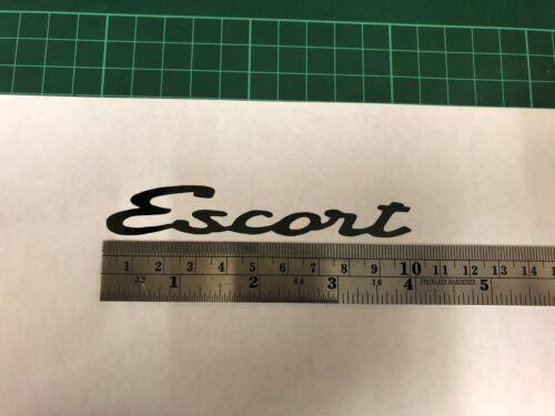 FORD Escort MK1 BADGE 102x16mm Nero
