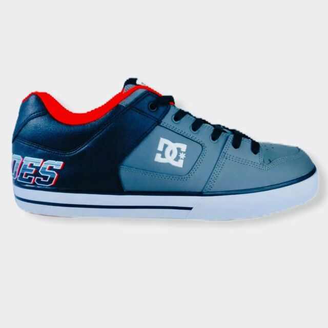 DC Pure XE Model 301722 Mens Black/Grey/Red Skate Shoes Sz 14