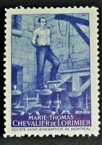Old-Societe-Saint-Jean-Baptiste-Purple-MARIE-THOMAS-GUM-Q-C-Canada-F-VF-SSJB