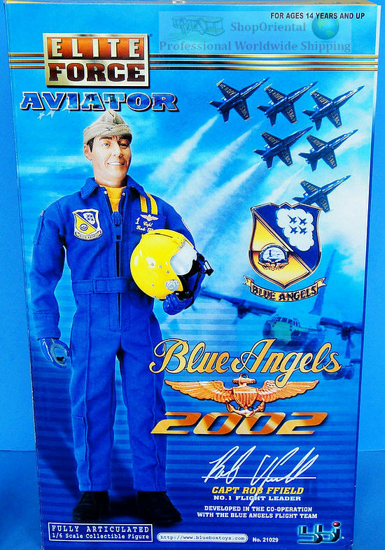 BBI 1 6 Action Figure USA Blau Angels Fighter Pilot Commander 1 Rob Ffield 21029