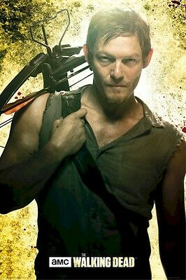 THE WALKING DEAD ~ DARYL CROSSBOW 24x36 TV POSTER Zombie AMC Norman Reedus