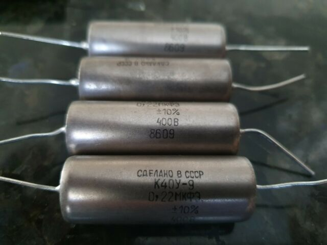 K40Y-9 0.22uF 100n 400V USSR  Capacitor  lot 4pcs+