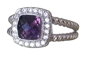 Designer-Inspired-Silver-7X7mm-Purple-Amethyst-Petite-Albion-Ring-Size-7-8-9