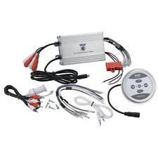 Pyle PLMRMBT7S Marine Grade 1200 Watt Amp Bluetooth 4-Channel Amplifier (Silver)