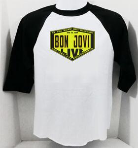 BON JOVI new T SHIRT  80s rock All sizes S M L XL