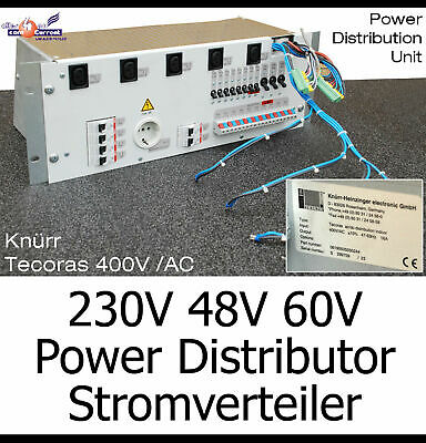 "Espressive 19"" Rack 48cm 4he Knürr Heizinge Pdu Distributore Di Corrente 230-400 V 48v 60v 2,5-30a-"