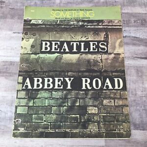 Beatles-Abbey-Road-Music-Book-Sheet-Music-Song-Book-Original-Vintage-1969