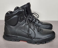 Nike 'Air Nevist 6 ACG' Water Resistant Boot Black Leather Mens Size 12 / 46