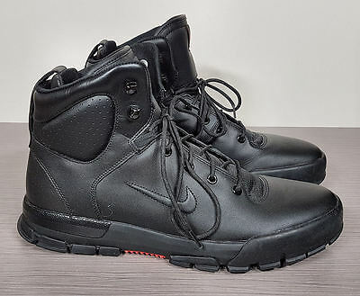 050aee53a07d Nike  Air Nevist 6 ACG  Water Resistant Boot Black Leather Mens Size ...