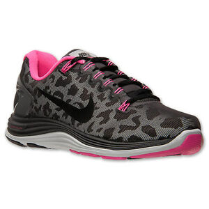 nike lunarglide 5 shield womens sz running shoes leopard