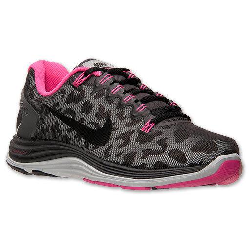 Nike Lunarglide+ 5 Shield Womens sz Running Shoes Leopard Black Pink 615980 006
