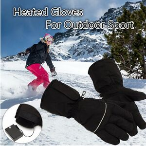 Image Is Loading Black Battery Powered Heated Gloves For Motorcycle Hunting