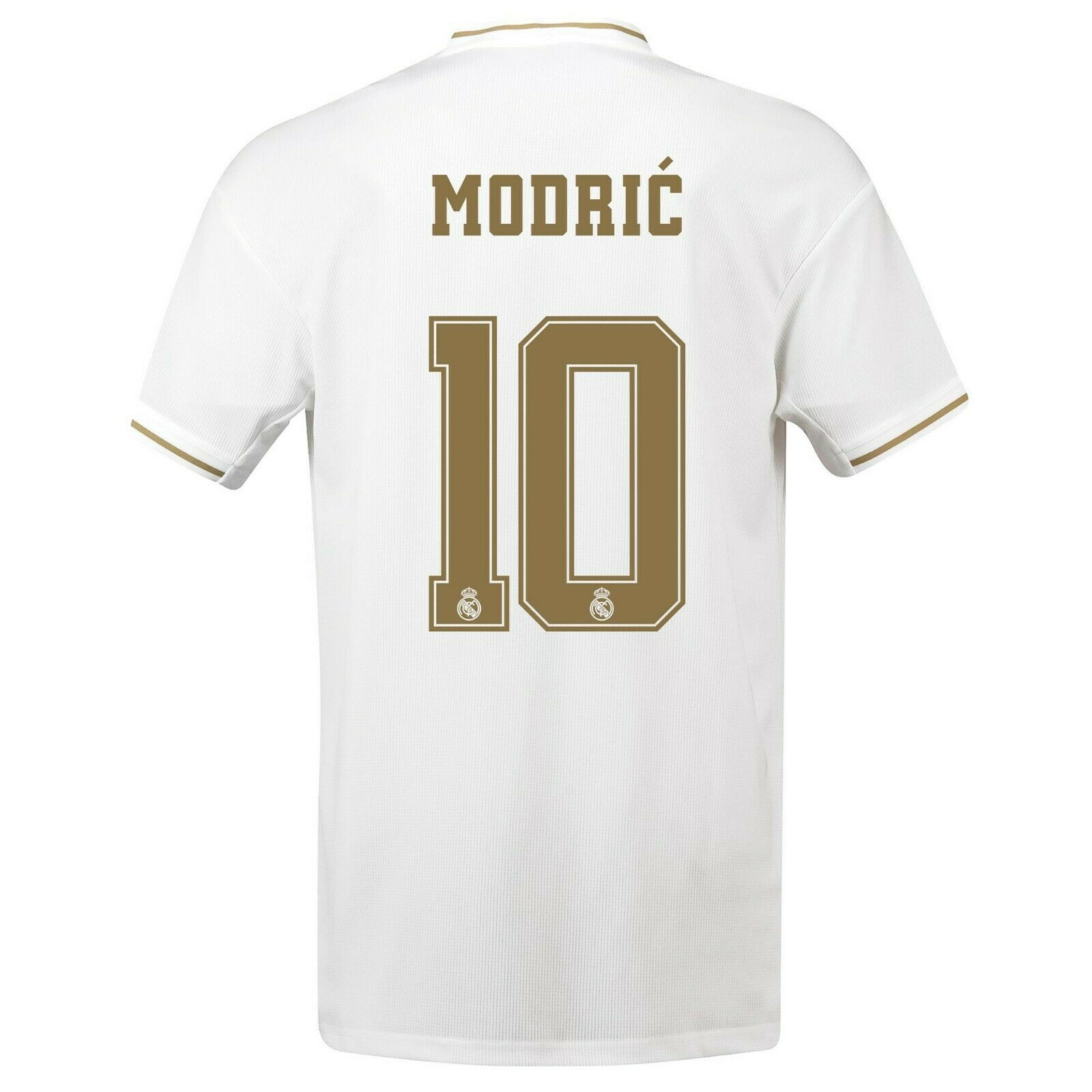 A4 mannens Media Real Madrid Home Shirt 2019-20 Gratis Print Modric 10