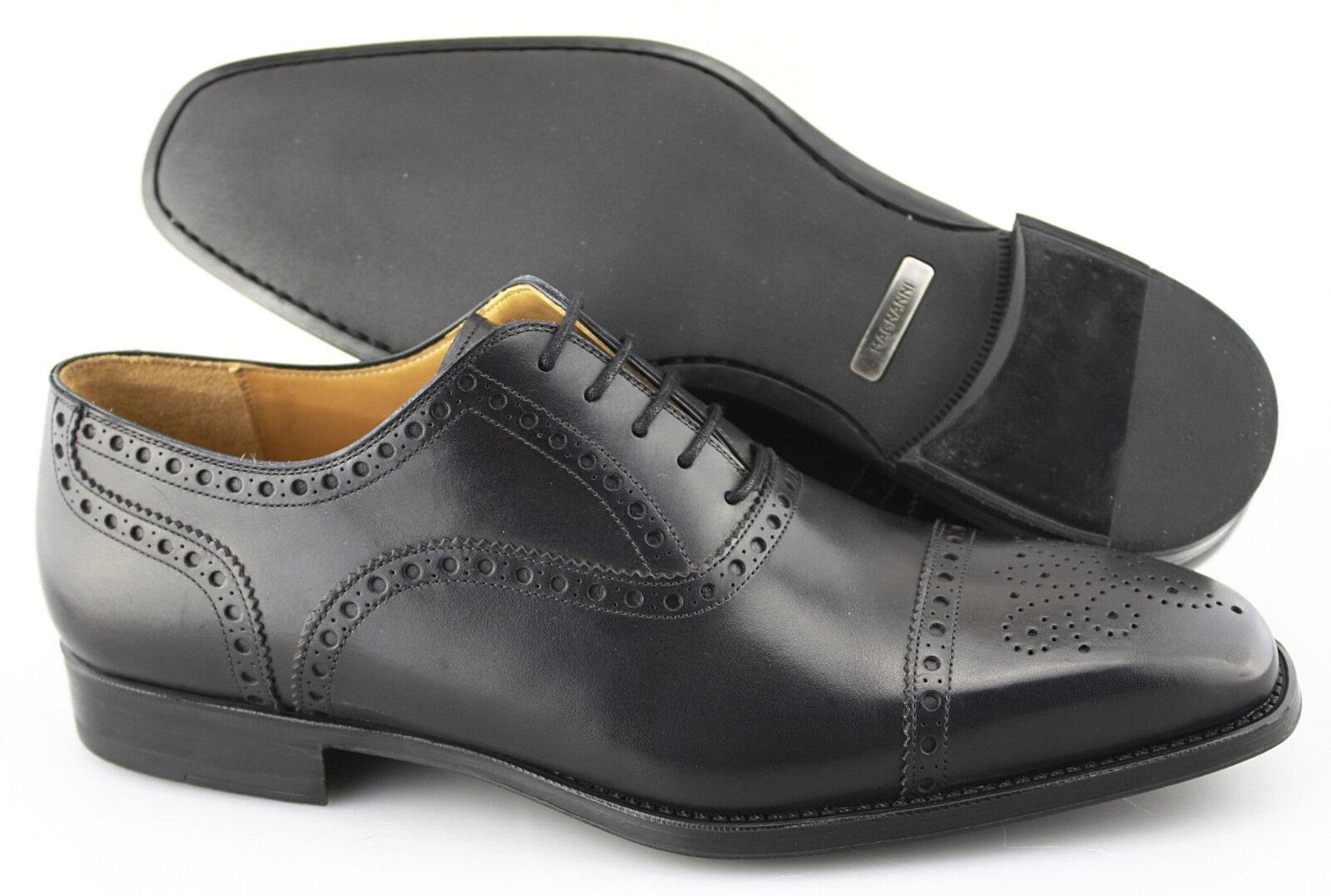 Para Hombre Vestido Magnanni  J.S.U. 'Cuero Negro puntera Oxford tamaño nos 9-D