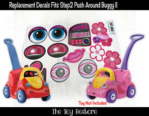 Toy Restore Replacement Stickers fits Step2 Push around buggy 2 II Decals Girl