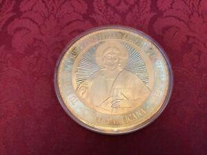 grosse-Gedenkmuenze-10-cm-Papst-Franciscus-Pnt-Max-goldfarben-Limitierte-Edition