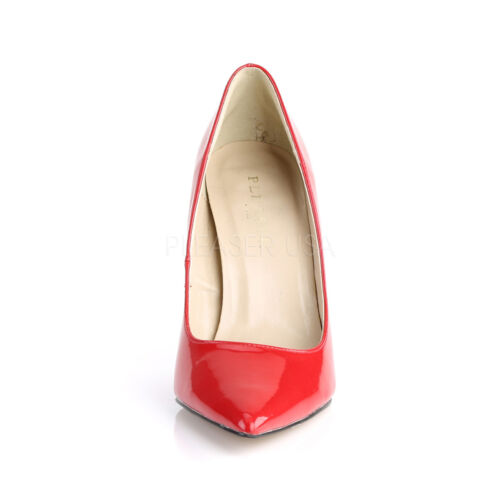 PLEASER CLASSIQUE-20 RED PATENT CLASSIC POINTED TOE WOMEN/'S COURT SHOES