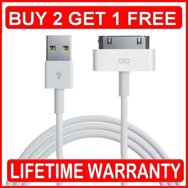 GENUINE CE & RoHS CHARGER CABLE FOR APPLE IPAD 2 3 4 IPHONE 4 4S 3GS iPod Nano