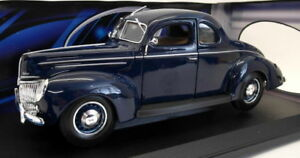 MAISTO-1-18-Scale-Diecast-31180-1939-FORD-DELUXE-bleu-fonce-voiture-modele