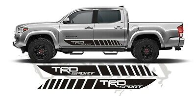 2x Side Vinyl Decals For Toyota Tacoma 2004-2020 Stripes TRD Sport Graphics