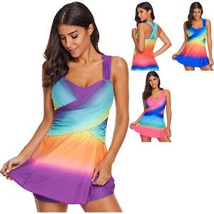 Womens Swim Skirt Swimwear Rainbow Lace Flared Summer Summer Beach Wear